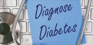 PostIt mit Aufschrift DiabetesDiagnose Diabetes