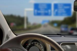 Autobahn, Nur Lenkrad scharfkurzsichtigkeit-myopie